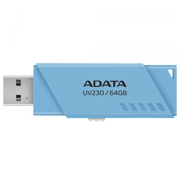 MEMORIA FLASH ADATA UV230 64GB USB 2.0 AZUL PC-MAC AUV230-64G-RBL