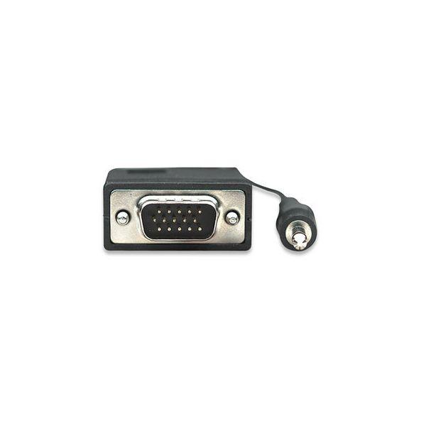 CABLE MONITOR SVGA MANHATTAN 8MM HD15M-M  1.8M + AUD 324267
