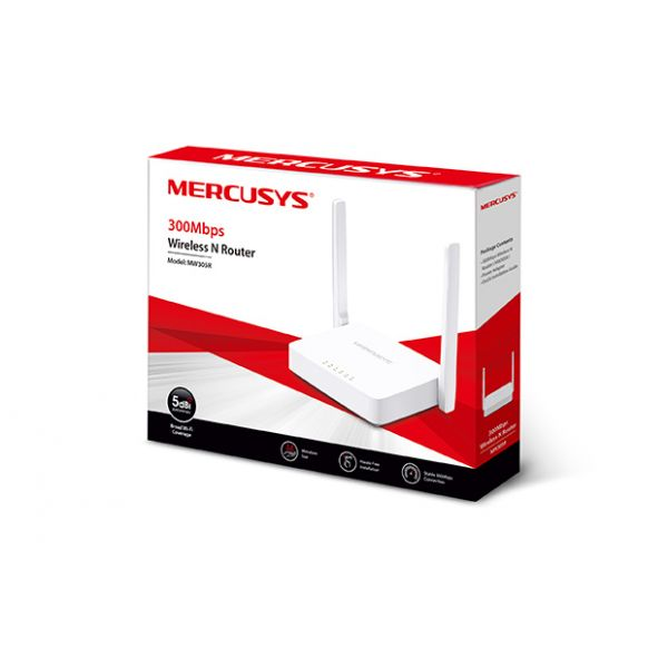 ROUTER INALAMBRICO MERCUSYS MW305R N 300MBPS 3 ANTENAS 5DBI