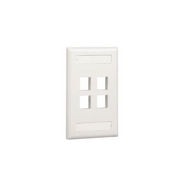 PLACA VERTICAL PANDUIT NK4FIWY 4 VENTANAS BLANCO