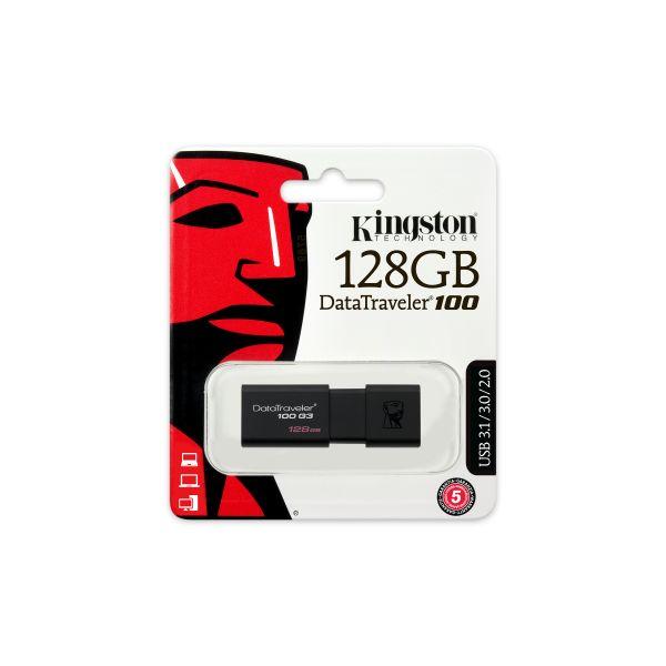 MEMORIA FLASH KINGSTON 128 GB USB 3.0 (DT100G3-128GB)
