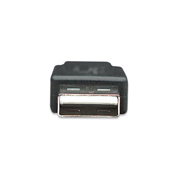 CABLE MANHATTAN USB A MACHO - MICRO B MACHO 0.5M NEGRO 325677
