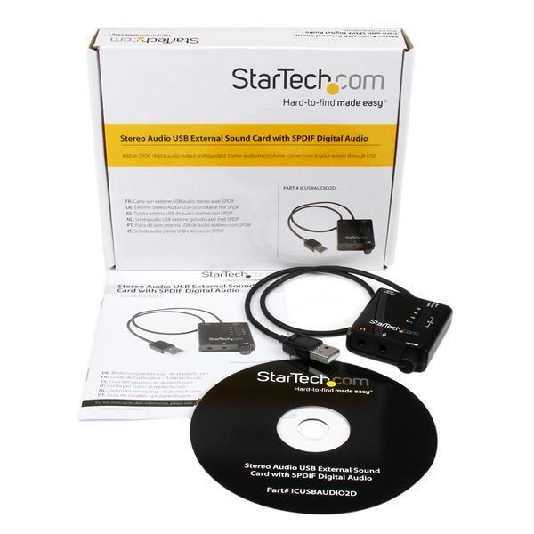 TARJETA DE SONIDO ESTEREO USB EXTERNA ADAPTADOR SPDIF STARTECH
