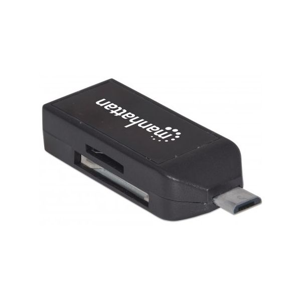 LECTOR DE TARJETAS OTG MANHATTAN 24 EN 1+USB SMARTPHONE TABLET 406222