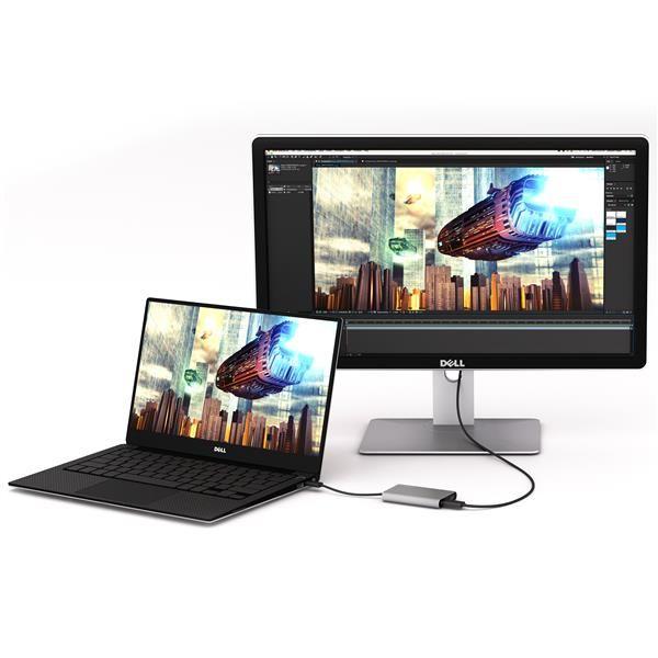 ADAPTADOR STARTECH THUNDERBOLT 3 A HDMI DOBLE 4K PLATA TB32HD2