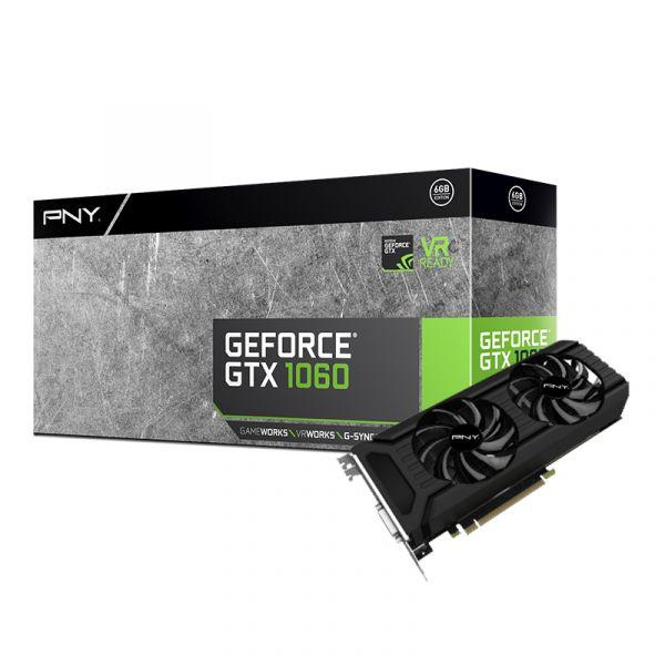 TARJETA DE VIDEO PNY VCGGTX10606PB GTX 1060 6GB DDR5 PCIe3 X16 NVIDIA
