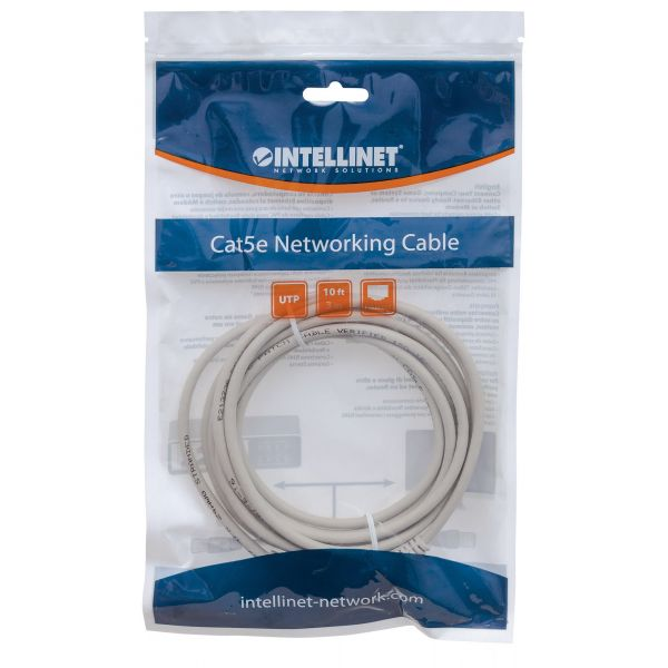 CABLE PATCH INTELLINET CAT-6, 1.0 MTS (3.0F) UTP GRIS (340373)