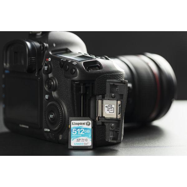 MEMORIA SD KINGSTON CANVAS GO! 512GB SDXC UHS-I CLASE10 SDG/512GB