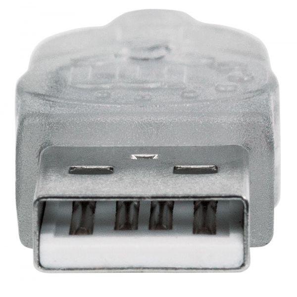 CABLE MANHATTAN USB 2.0 EXTENSION 1.8M PLATA 336314