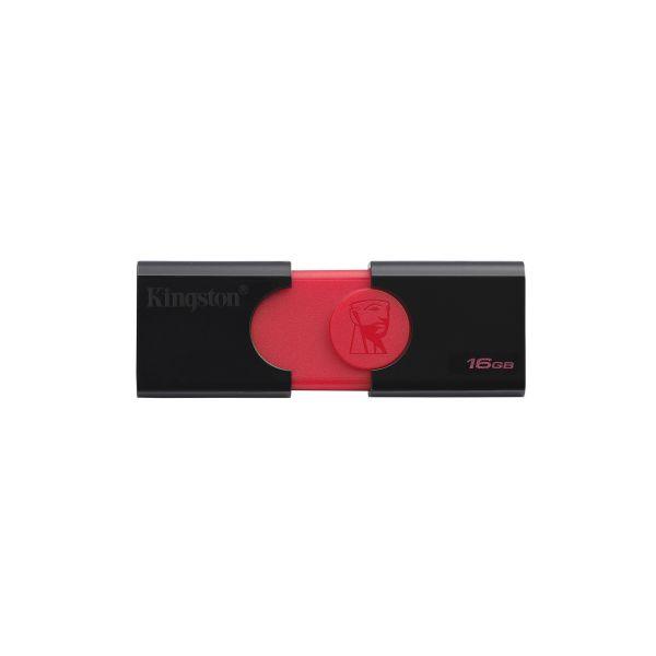 MEMORIA USB 3.0 KINGSTON DT106 16GB NEGRA/ROJA - DT106/16GB