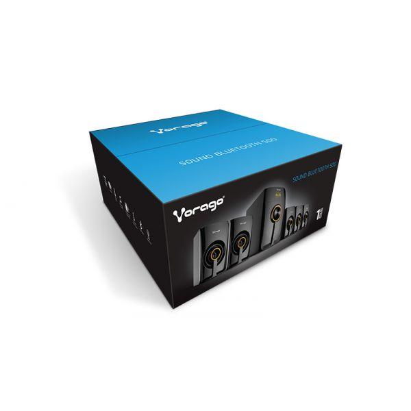 BOCINAS VORAGO SPB-500 BLUETOOTH NEGRAS 5.1 CANALES