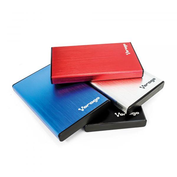 ENCLOSURE VORAGO HDD-201 ROJO DD 2.5 SATA USB 3.0
