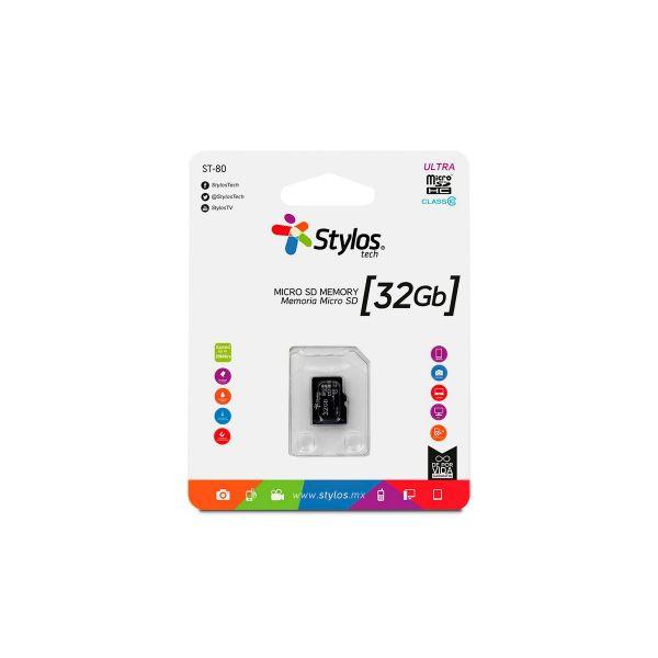 MEMORIA MICRO SD 32GB STYLOS STMSDS3B 32 GB 13MB/S 5 MB/S NEGRO CL10