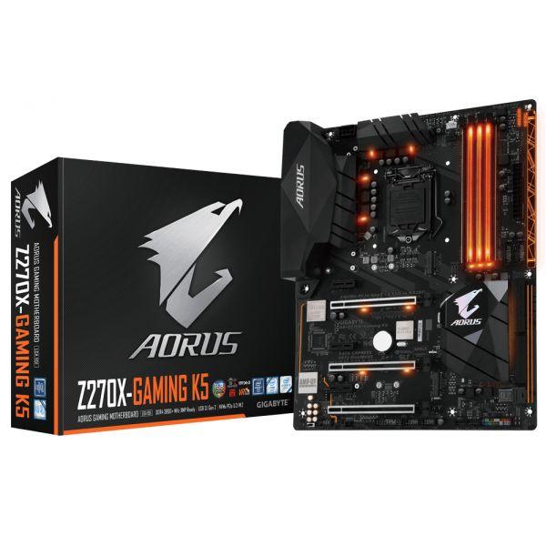Tarjeta MadreAORUS  Gigabyte GA-Z270X-Gaming K5 Z270 LGA1151 ATX, DIMM