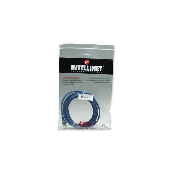 CABLE PATCH INTELLINET CAT-6, 5.0 MTS (16.4F) UTP AZUL 343305