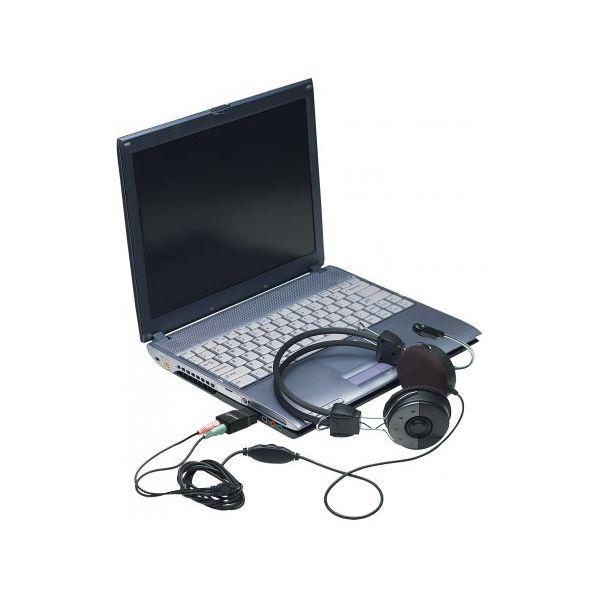 CONVERTIDOR MANHATTAN USB A AUDIO 3.5MM NEGRO 152754