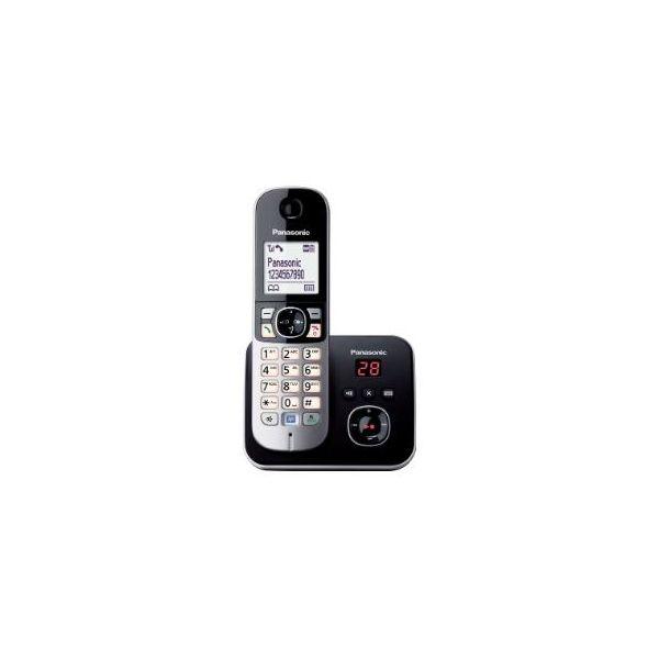 TELEFONO INALAMBRICO PANASONIC ESCRITORIO NEGRO PLATA SI SI LCD