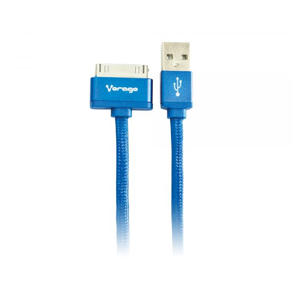CABLE VORAGO CAB-118 USB-APPLE DOCK 1 METRO AZUL BOLSA