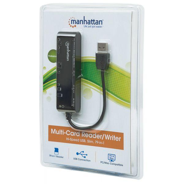 LECTOR TARJETAS MANHATTAN USB 2.0, 79 EN 1 101998