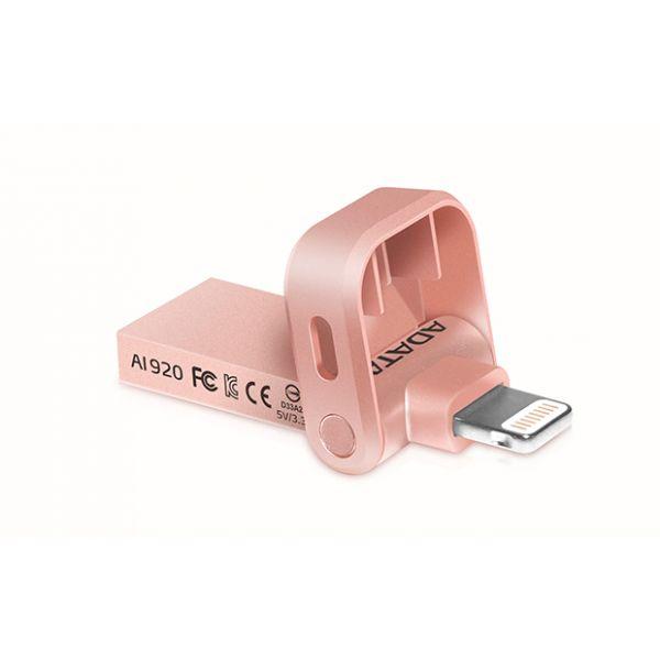 MEMORIA OTG ADATA 32GB USB 3.1COLOR ORO ROSADO (AAI920-32G-CRG)