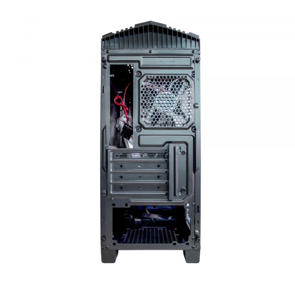 GABINETE GAMER GAME FACTOR CSG500 mATX BLUE USB 3.0 1 VENT 120MM S/FTE