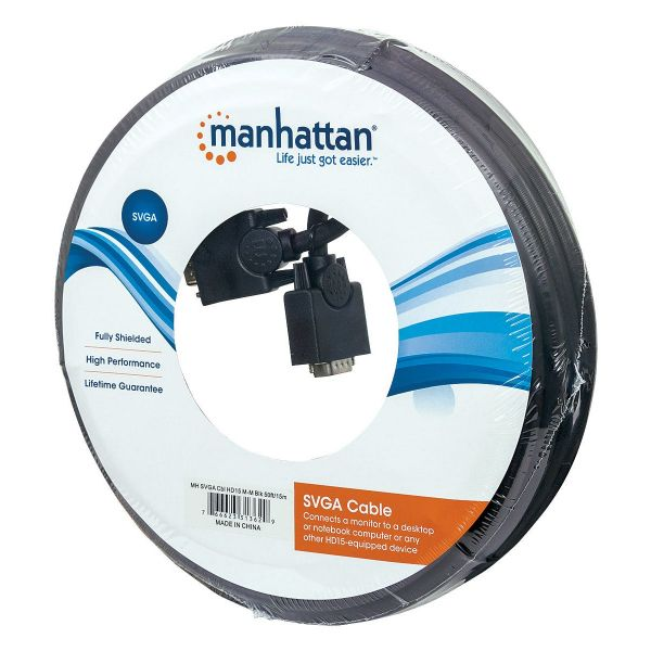 CABLE MONITOR SVGA MANHATTAN 8MM HD15M-M 15.0M 313629