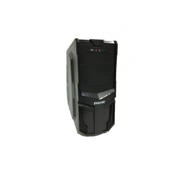 GABINETE EVOTEC 3001F MICRO-ATX TORRE NEGRO 600W