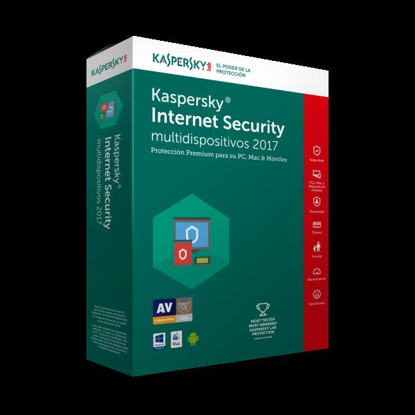 KASPERSKY INTERNET SECURITY MULTIDEVICE 3 USR 1 AÑO TMKS-172