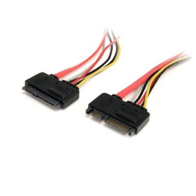 Cable 30cm SATA  22 Pin Serial ATA Macho Hembra  STARTECH SATA22PEXT