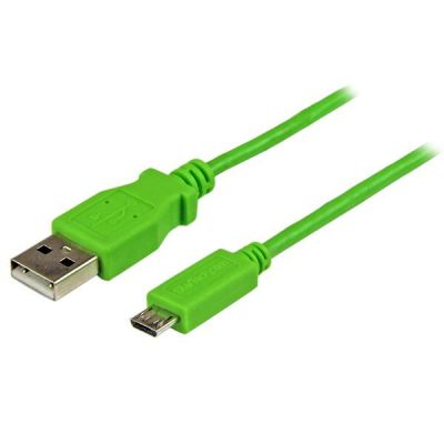 Cable 1m Micro USB B a USB A  Delgado Verde STARTECH USBAUB1MGN