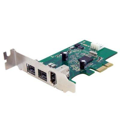 TARJETA PCIE   FIREWIRE PERFIL BAJO 3 PTOS  STARTECH PEX1394B3LP