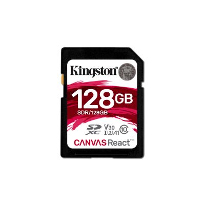 MEMORIA SD KINGSTON CANVAS REACT 128GB SDXC UHS-I CLASE10 SDR/128GB