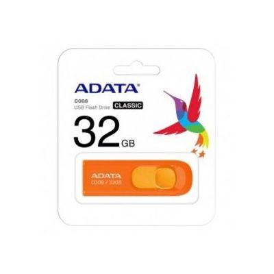 MEMORIA USB FLASH ADATA C008 32GB USB 2.0 NARANJA (AC008-32G-ROR)