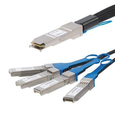 CABLE QSFP+ STARTECH 3M A 4XSFP+ 40G DAC TWINAX PASIVO QSFP4SFPPC3M
