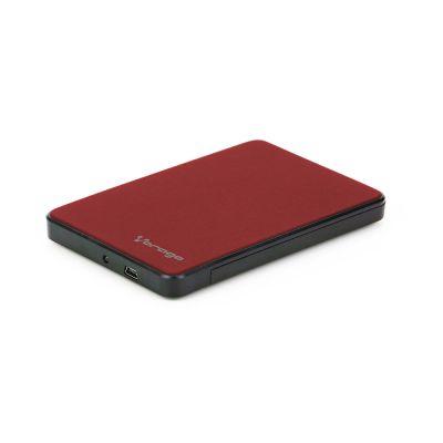 """ENCLOSURE VORAGO HDD-102 ROJO 2.5"""" USB 2.0 SATA"""