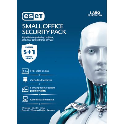 ANTIVIRUS ESET SMALL OFFICE SECURITY PACK 1 SERV+5 PCs 1YR(TMESET-066)