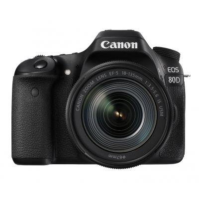 "CAMARA CANON EOS REFLEX 80d 24.2MPX LCD3"" WI-FI NFC LENTE EF 18-135mm"