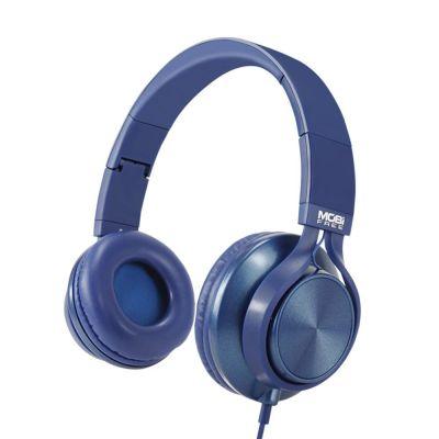 AUDIFONOS ACTECK ON-EAR CON MICROFONO METALICOS AZUL MB-02013