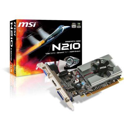 TARJETA DE VIDEO MSI N210-MD1G/D3 1GB GDDR3 64BIT HDMI/VGA/DVI CAJA