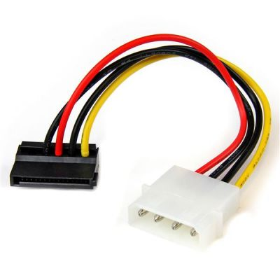 Cable Corriente LP4 Molex a SATA Angulo Izq STARTECH SATAPOWADPL