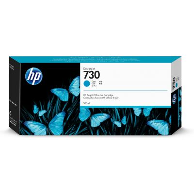 CARTUCHO HP 730 CYAN 300ML P/T1700 P2V68A