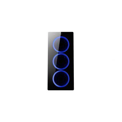 GABINETE GAMER GAME FACTOR CSG501 ATX 4 VENTILADORES RGB SIN FUENTE