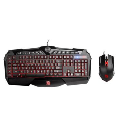 KIT GAMER THERMALTAKE SPORTS USB ALAM NEGRO 3200DPI KB-CPC-MBBRSP-01