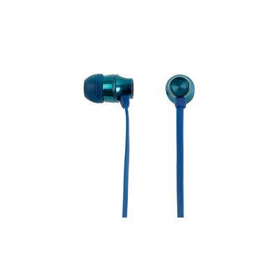 AUDIFONOS ACTECK IN-EAR CON MICROFONO METALICOS COLOR AZUL MB-02018