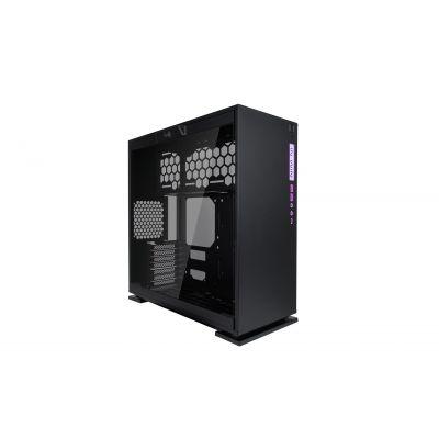 GABINETE GAMER INWIN 303C BLACK CRISTAL USBC RGB BLACK