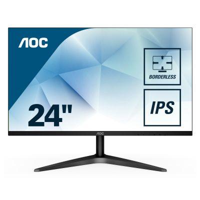 """MONITOR AOC 24B1XHS 23.8"""" IPS FULLHD 60HZ VGA HDMI NEGRO"""