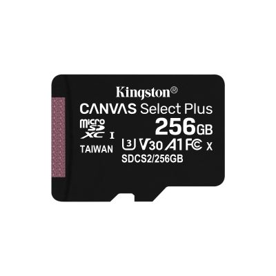 MEMORIA MICRO SDXC KINGSTON CANVAS 256GB SDCS/64GB A1 U3 V30