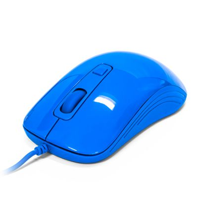 MOUSE VORAGO MO-102 AZUL OPTICO ALAMBRICO 1000/1600 DPI'S USB