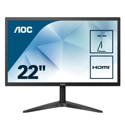"MONITORAOC22B1HS 21.5"" IPS FULLHD 60HZ VGA HDMI NEGRO"