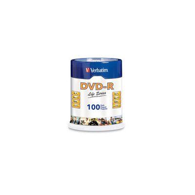 DVD-R VERVATIM 97177 100 PIEZAS LIFE SERIES 4.7GB 16X 120MIN